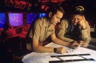 קלנסי בסיור בצי האמריקני.